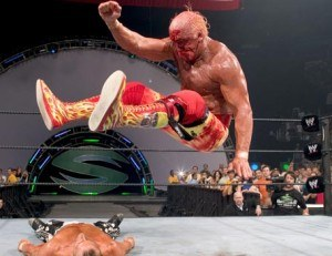 Hulk Hogan's legdrop delivers devastating damage to himself.