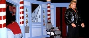 Rockers barber shop window