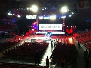 TNA empty arena