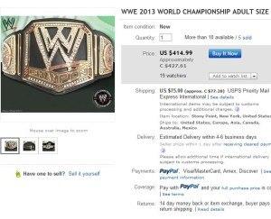 wwe championship ebay