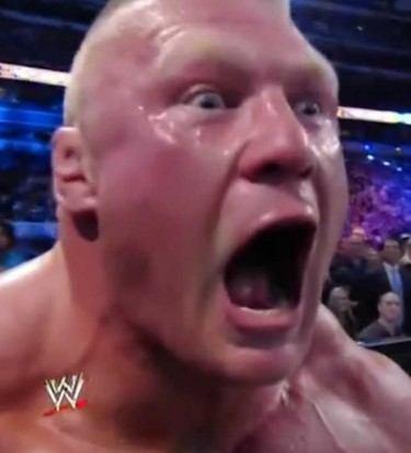 Brock Lesnar scream
