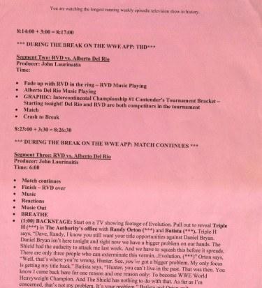 WWE script