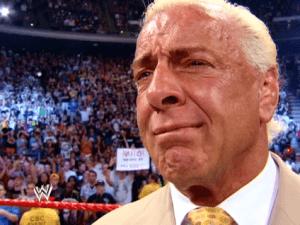 Ric Flair crying