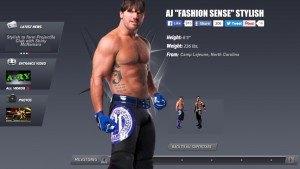 AJ Styles superstar page