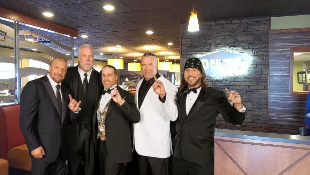 "Reunited Kliq ""taking over"" early-bird buffet at Denny's"