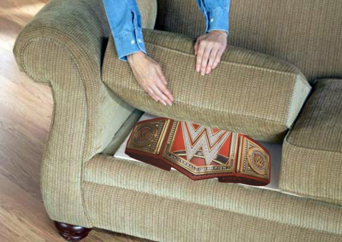 Lesnar Discovers Universal Championship Under Sofa Cushions