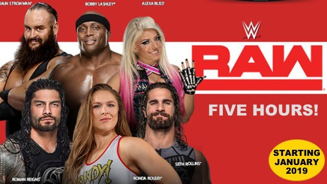 Wwe Raw Expanding To Five Hours In 2019