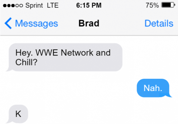 wwe network and chill