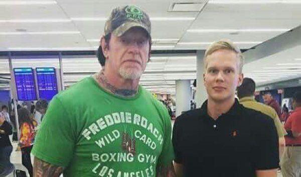 undertaker and fan