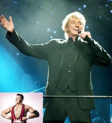 A misheard chant has led WWE officials to offer Barry Manilow a developmental contract, while Colt Cabana (inset) remains a fixture of the indy scene.