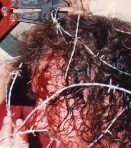 Terry Funk barbwire