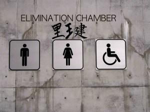 WWE Elimination Chamber toilet