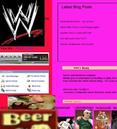 WWE social media