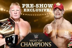 Cena lesnar night of champions