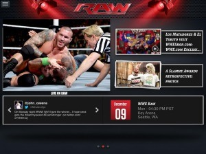 WWE app exclusive
