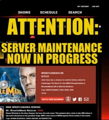 wwe network offline