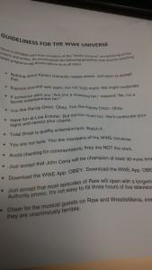WWE rules leaked