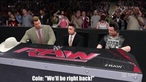 WWE commercial break