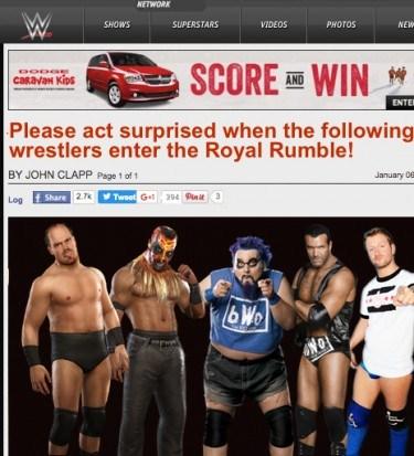 Royal rumble surprise 2016