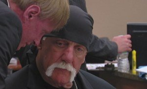 Hulk Hogan receives advice from lawyer and manager Bob Backlund.