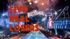 wrestlemania losers