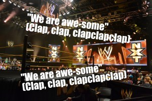 nxt fans chanting